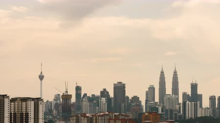 alışveriş : Hazy Kuala Lumpur sunrise time lapse at Kuala Lumpur City. The smog has really affected the citys health. Camera zoom i