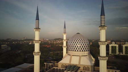 abdul : Aerial Shot - Sunrise at a mosque. Stock Footage