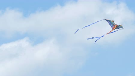 Kite flying in blue sky