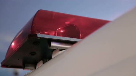 polícia : Close up of ambulance siren flashing Stock Footage