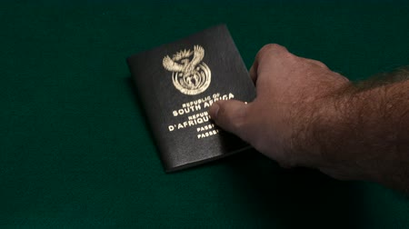 pas : South African passports on table