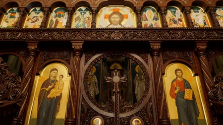 pascha : Interior of a traditional Orthodox Church - Iconostasis