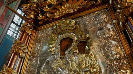 divino : Interior of an Orthodox Church - Byzantine golden icon depicting Saint Mary