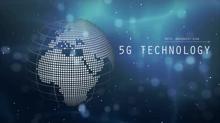 fintech : 5G and AI technology, Global communication network concept. 3D Illustration. Stock Footage