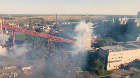 metallurgic : Aerial view of industrial infrastructure, at the Coke production. Production of chemical products. Stock Footage