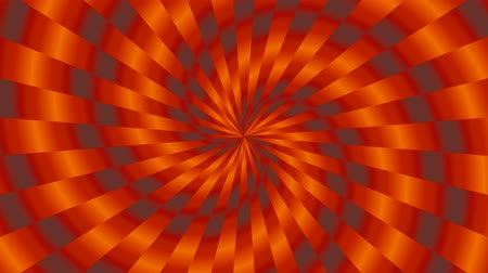 illúzió : Simple Orange and Gray Interleaved Spinning Spiral Tunnel Pattern - 4K Seamless Loop Motion Background Animation Stock mozgókép