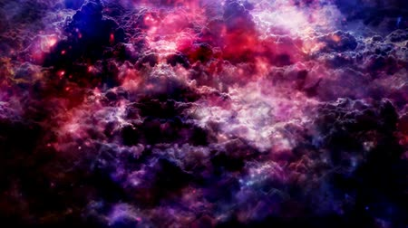 Soft Purple Clouds and Slow Rising Magic Particle Spheres - 4K Seamless Loop Motion Background Animation 무비클립