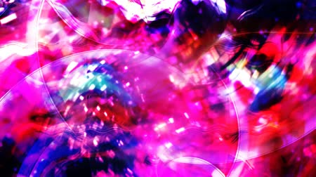 psyche : Wavy Rotating Geometric Particles with Vivid Magenta Colors - 4K Seamless Loop Motion Background Animation Stock Footage