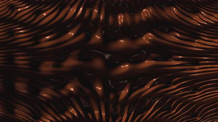 geçiştirmek : 3D Animated Melted Liquid Dark Chocolate Flowing with Thick Layers - 4K Seamless Loop Motion Background Animation Stok Video