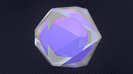 cristalino : Abstract 3D Shifting Purple Crystalline Diamond - 4K Seamless Loop Motion Background Animation
