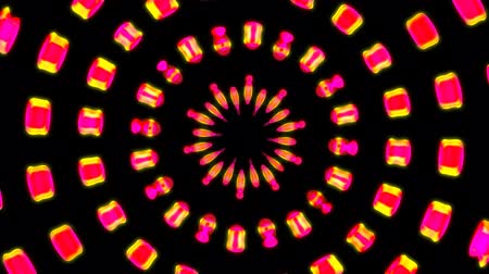 Pink Psychedelic Graphic with Yellow Glow Pulsating Light Effect - 4K Seamless Loop Motion Background Animation