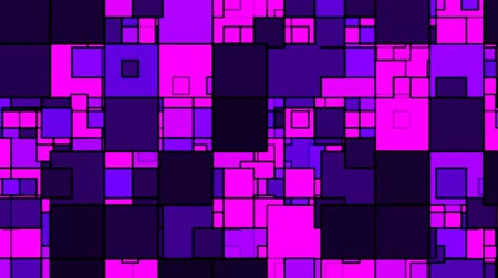 Modern Minimalist Purple and Pink Square Shapes Overlapping Design - 4K Seamless Loop Motion Background Animation