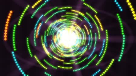 Shining Light at End of Tunnel Made of Geometric Moving Shapes - 4K Seamless Loop Motion Background Animation