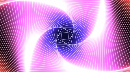 Abstract Neon Laser Tunnel Glowing Pink and Blue Ultraviolet Light - 4K Seamless Loop Motion Background Animation