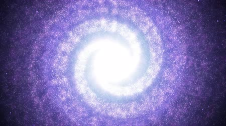 Beautiful Purple Spiral Galaxy in Space Swirling with Nebula Stars - 4K Seamless Loop Motion Background Animation 무비클립