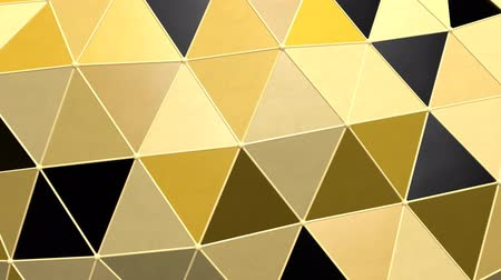 Shiny Metallic Black Gold Moving Triangle Grid Tile Shapes Graphic - 4K Seamless Loop Motion Background Animation 무비클립