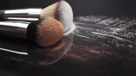 Make-up cosmetic products for women and women. Stock Footage