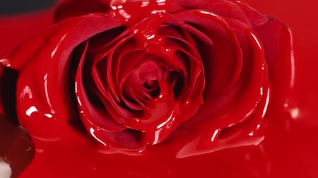 Red flower paint