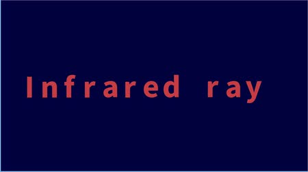 4k animation on a dark blue background. Letters appear sequentially one after another. Red Text - Infrared Rays. Text design animation. Footage concept for household appliances, medical purposes. Vídeos