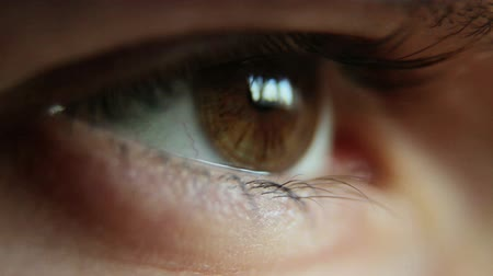 eye ball : Closeup Shot Of Boy Eye Stock Footage