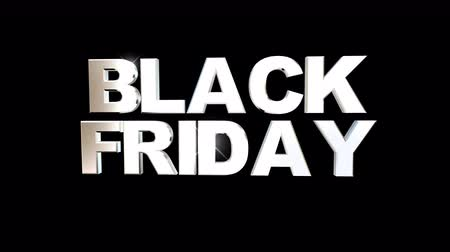 satmak : Black Friday Sale - Animation on black background. Online shopping banner. Stok Video
