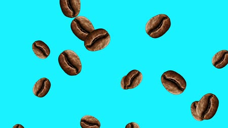 fraction : Abstract colorful animation - coffee bean color background. Coffee beans. Stock Footage
