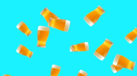 пивоваренный завод : Abstract colorful animation - glass of beer color background. Glasses of beer.