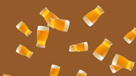 кувшин : Abstract colorful animation - glass of beer color background. Glasses of beer.