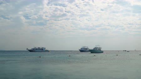 vrak : HURGHADA - NOVEMBER 21, 2017: Safari Boats at anchor in the Red Sea near Hurghada on november 21, 2017 in Hurghada, Egypt.