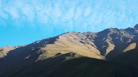 Clouds moving over the mountain at Ushtulu canyon at Caucasus mountains near mount Elbrus - the highest mountain in Europe. Dostupné videozáznamy