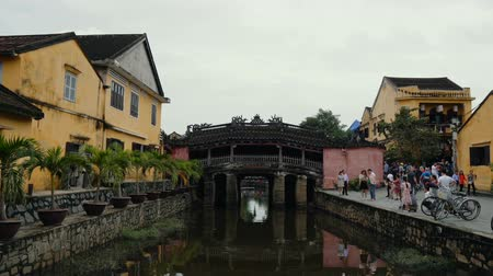 hoi an : HOI AN, VIETNAM - DECEMBER 29, 2018: Japanese bridge at Hoi An - popular vietnam destination - beautiful town with ancient architecture. Hoi An is the Worlds Cultural heritage site.