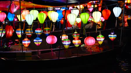 hoi an : Beautiful lanterns on the boat in Hoi An old town. Hoi An is the Worlds Cultural heritage site.