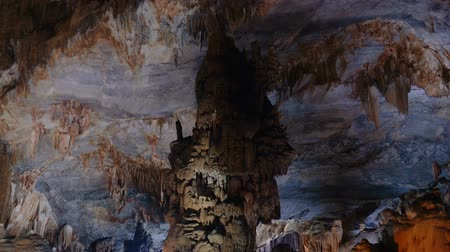 hoi an : Ancient rock formations - stalactites and stalagmites in the cave in Central Vietnam.