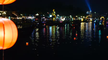 hoi an : HOI AN, VIETNAM - DECEMBER 29, 2018: Popular vietnam destination - Hoi An at night - beautifull town with ancient architecture. Hoi An is the Worlds Cultural heritage site.