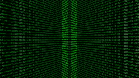 kódolás : Binary code background with digits on screen. Algorithm binary, data code, decryption and encoding. Deep of field effect. Seamless loop abstract background.