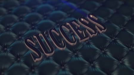 sucesso : Dark success word on quilted fabric