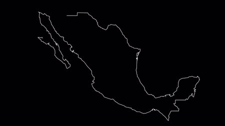 contornos : Mexico map outline animation