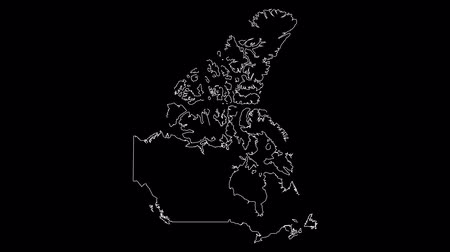 contorno : Canada map outline animation