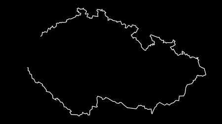 Czech Republic map outline animation