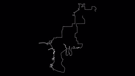 Tampa Florida city map outline animation Vídeos