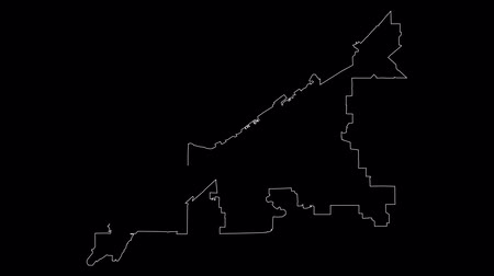 adminisztratív : Cleveland Ohio city map outline animation Stock mozgókép