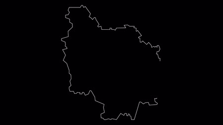 Bourgogne France map outline animation