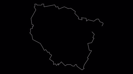contorno : Lorraine France map outline animation Stock Footage