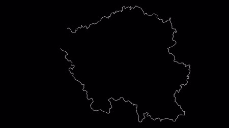 Saarland Germany map outline animation Vídeos