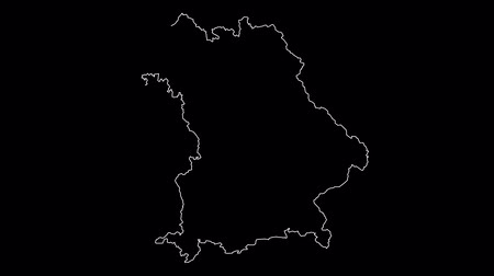 Bavaria Germany map outline animation