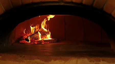 Fire in a pizza oven