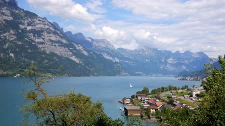 View on the beautuful lake in Switzerland