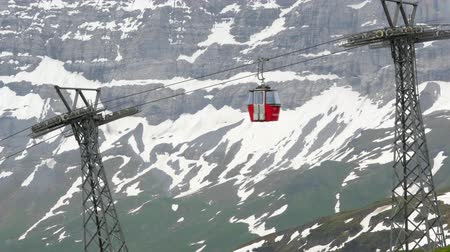 Ski lift in Switzerland. Wengen