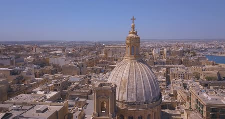 maltština : Aerial panorama of Ancient capital city of Valletta Malta. Island Country of Europe in the Mediterranean Sea. Dostupné videozáznamy