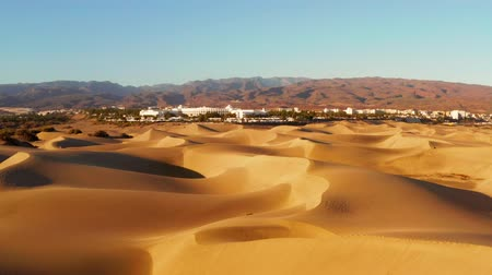Aerial view of sand dunes of Maspalomas, Gran Canaria, Canary Islands, Spain